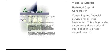 Redwood Capital Corporation website
